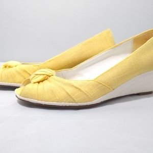 Etienne Aigner Yellow Diplomat Wedge Shoes 7M